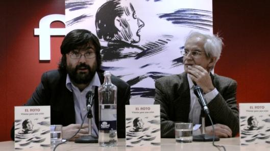 Andrés Rábago, El Roto, presentado por los responsables de la Editorial Mondadori - Reservoir Books