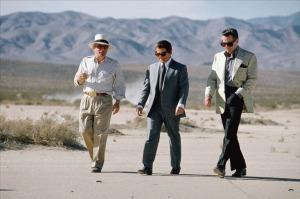 """Martin Scorsese junto a  Joe Pesci y Robert De Niro durante el rodaje de """"Casino"""" (1995)"""
