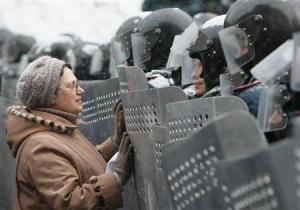 Imagen tomada en Kiev en una de las manifestaciones (Reuters)