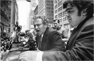 Norman Mailer y Jimmy Breslin en junio de 1969. Foto: Neal Boenzi (The New York Times)