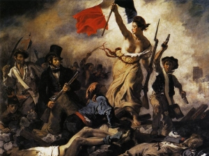 """""""La Libertad guiando al pueblo"""", Eugène Delacroix, 1830"""