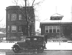 La casa de Al Capone en el 7244 de Prairie Avenue en una imagen de los años 30.