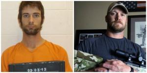 Eddie Ray Routh, el asesino, y el verdadero Chris Kyle