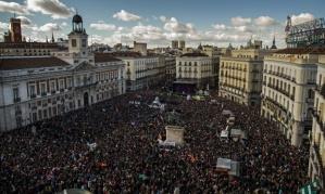 Manifestación de Podemos, el sábado en Madrid. Foto: Andres Kudacki/AP