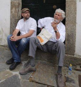 Martiño Noriega (i),junto a Xosé Manuel Beiras en una imagen del pasado julio. EFE/Xoan Rey